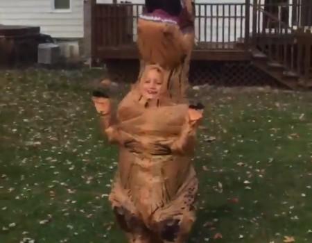 """Virales Video """"T-Rex-Kostüm für Kinder wird über 140.000 Mal retweetet"""""""