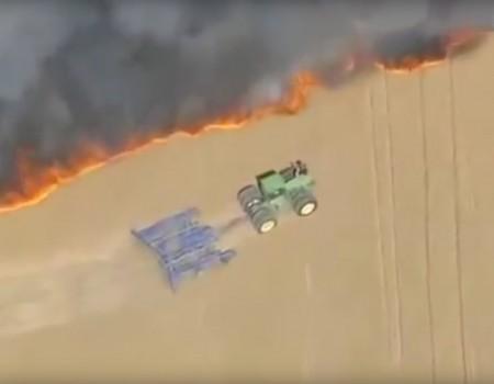 """Virales Video """"Bauer riskiert sein Leben, um seine Ernte zu retten"""""""