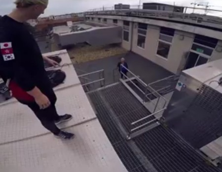 "Virales Video ""Rooftop Parkour"""