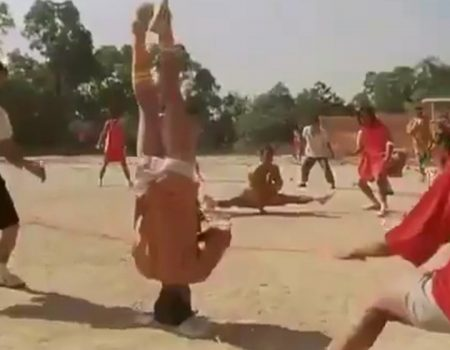 "Virales Video ""Shaolin Mannequin-Challenge"""
