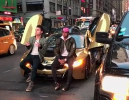 "Virales Video ""BMW i8 Photoshooting in New York City außer Kontrolle"""