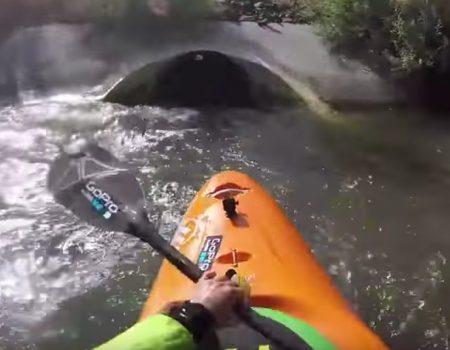 """Virales Video """"Kajakfahrer ziemlich schockiert über gefährliche Tunnel-Schleuse im Fluss"""""""