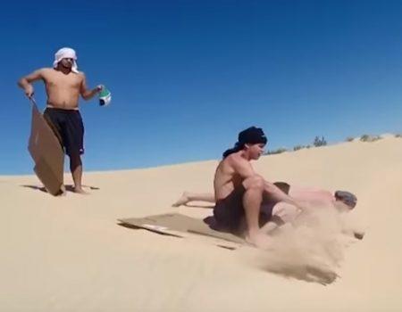 """Virales Video """"Die Silver-Lake-Sanddünen in Michigan eignen sich hervorragend für ein wenig Wassersport"""""""