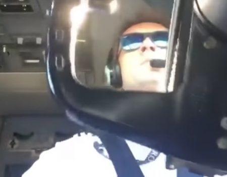 """Virales Video """"Pilot bei der Arbeit kämpft sich durch Wind und Wetter mit einer Boeing 737"""""""