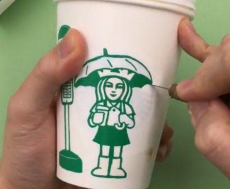 """Virales Video """"Künstler aus Seoul, Südkorea hat ein ganz eigenes künstlerisches Hobby namens """"Cup Art"""" für sich entdeckt"""""""