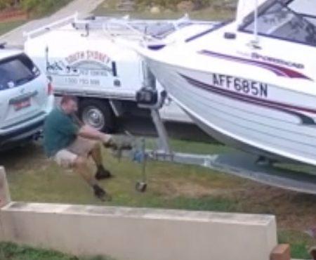 """Virales Video """"Fischerboot nimmt jungen Mann aus New South Wales, Australien auf einen kurzen Spaziergang mit"""""""